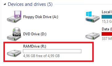 ram диск в проводнике