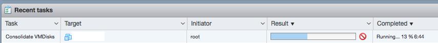 запуск консолидации виртулаьных дисков vmware