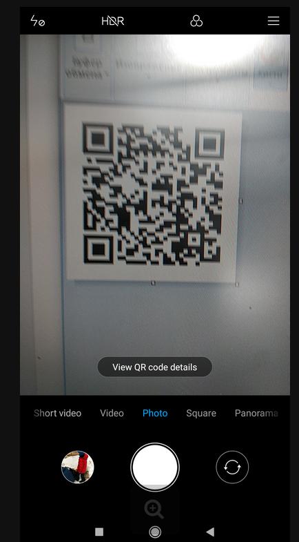 сканирование qr кода с помощью камеры в android miui