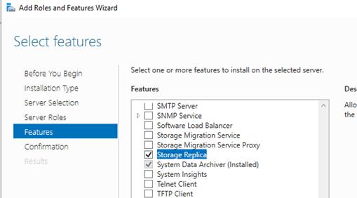 Установка Storage Replica в Windows Server 2016