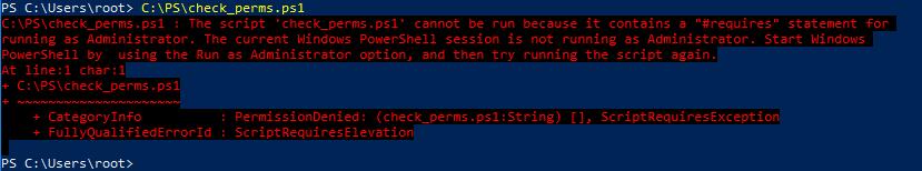 Как проверить права администратора в скрипте PowerShell