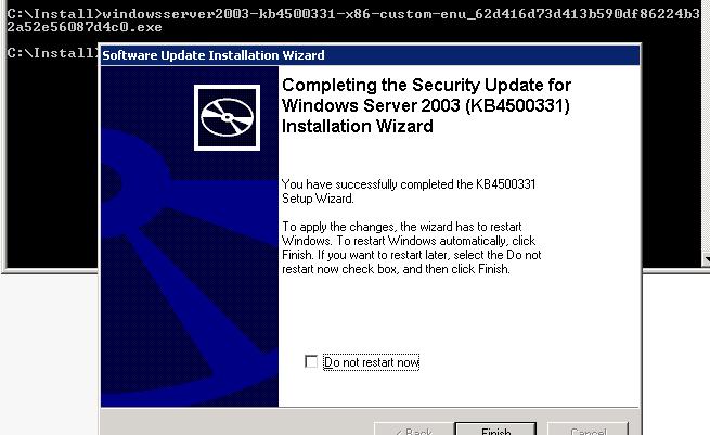 установка обновления kb4500331 в windows xp