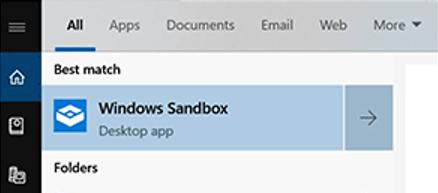 запустить windows sandbox (песочницу)