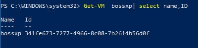 Get-VM | select ID получить идентфикатор виртуальной машины hyper-v