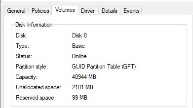 gpt таблица разделов на efi компьютере