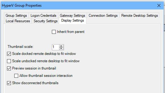 параметры масштабирования RDP окна в RDCMan