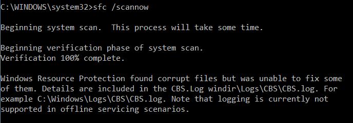 sfc /scannow Программа защиты ресурсов Windows обнаружила повреждённые файлы, но не может восстановить некоторые из них
