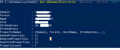 Get-ADDomainController найти Active Directory Web Services