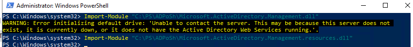 Import-Module Microsoft.ActiveDirectory.Management.dll
