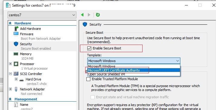 отключить Secure boot или использовать Microsoft UEFI Certificate Authority
