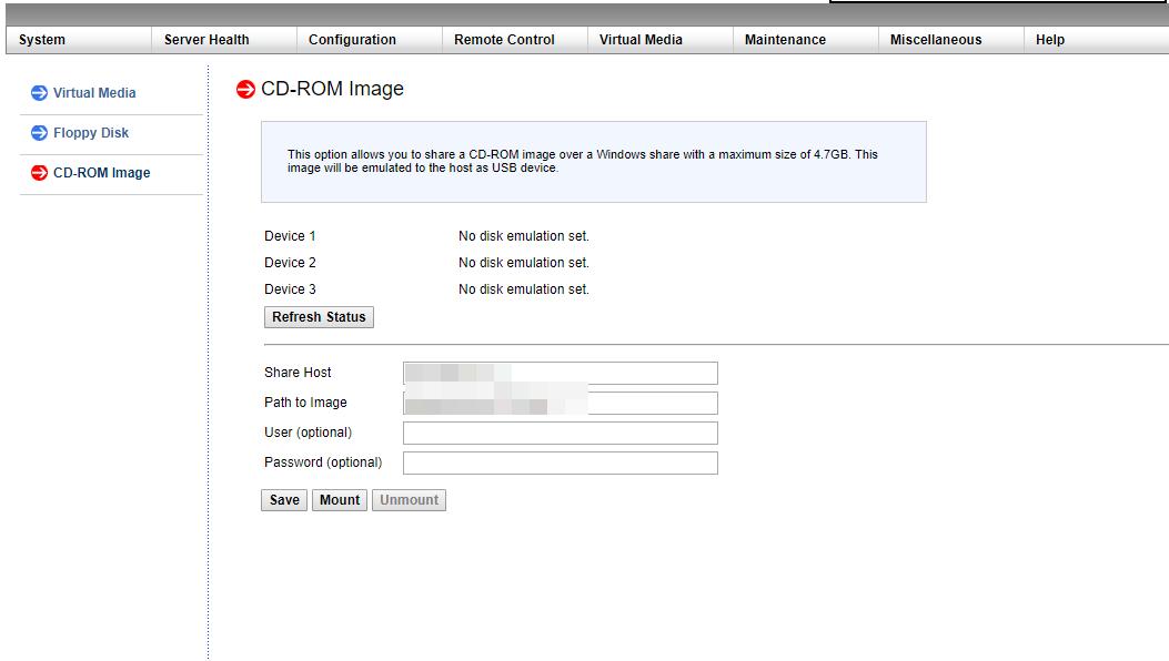 подключение iso образа в ipmi для установки хостовой операционной системы