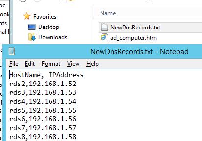 тектовый файл с dns записями