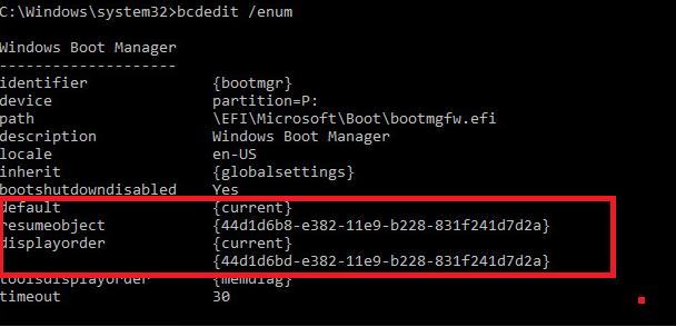 две конфигурации Windows Boot Manager для разных gpt дисков с загрузчиками