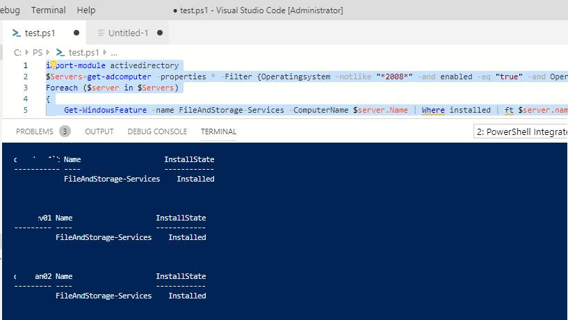 найти все Windows Server с установленными ролями в ActiveDirectory