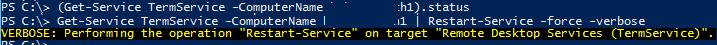 перезапуск службы TermService (Remote Desktop Services )
