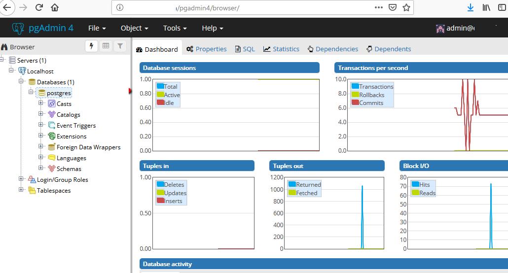pgAdmin4 веб интерфейс управления