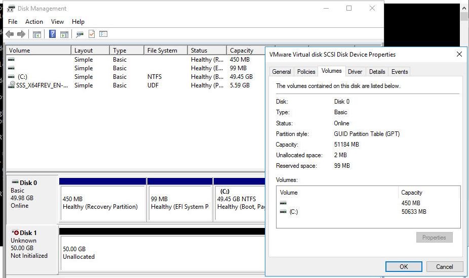 подготовка с созданию програмного raid в Windows 10 / Server 2016