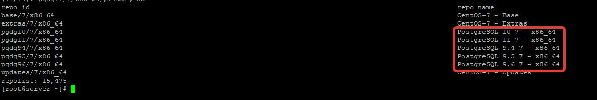 подключение репозитория PosgreSQL