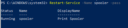 Restart-Service - перезапуск службы windows