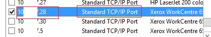 Standard TCP/IP Port - тип порта на принт сервере