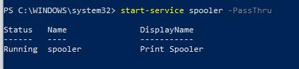 Start-Service -запуск службы