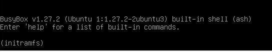 ошибка initramfs BusyBox в Ubuntu / Mint / Kali