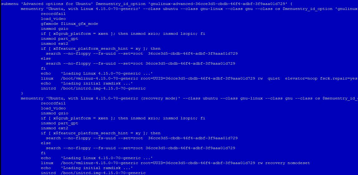 укажите UUID диска в grub.cfg