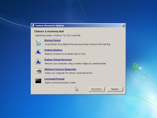инструменты Windows RE