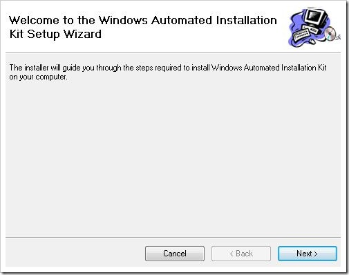 description: windows automated installation kit