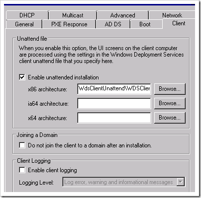 description: client enable unattended installation