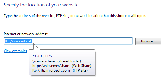 description: how to map ftp site in windows 7
