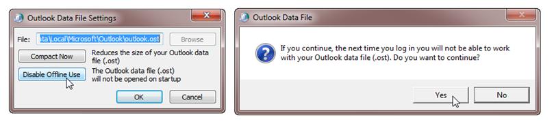 Offline OST файл в outlook