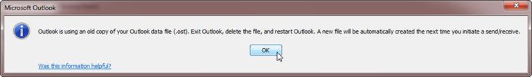 Outlook.  Відновлення пошти з OST файлу