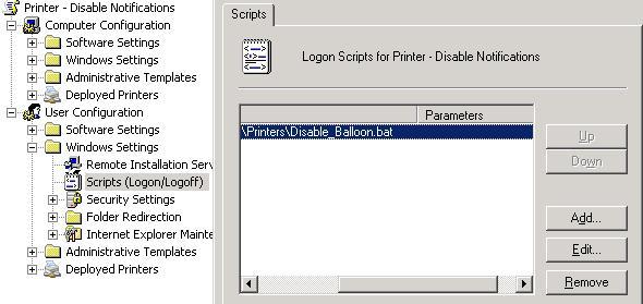 Отключаем уведоление о печати в Windows