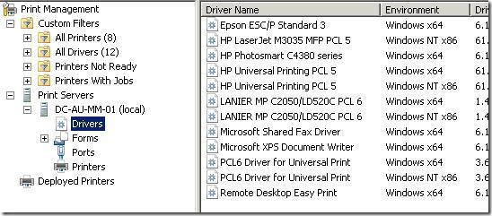 Драйвера принтеров в Windows 7
