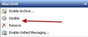 Disable и Remove  Mailbox в Exchange 2010