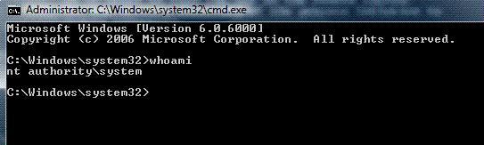 Запуск cmd от SYSTEM в Windows 7