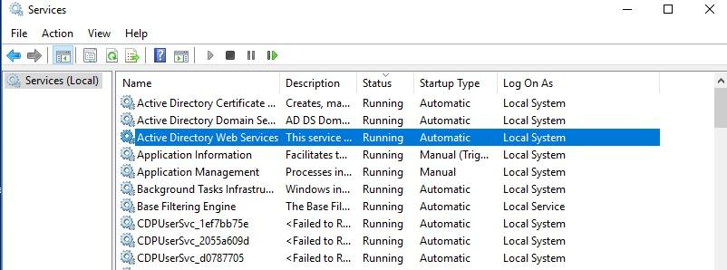 системные службы windows запущены от имени localsystem