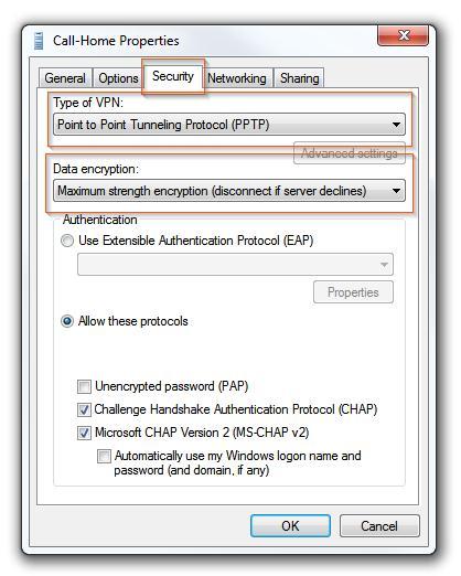 Настраиваем VPN клиент в win 7