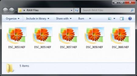 Просмотр RAW в Windows7