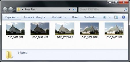 Просмотр файлов RAW в Windows 7