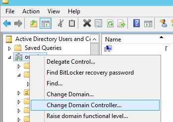 aduc Change Domain Controller