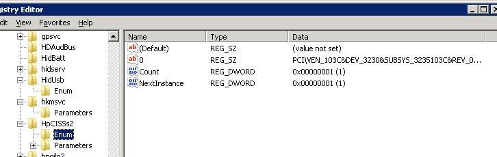 Определеяется код пристрою по файлу драйвера