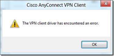помилка cisco vpn в windows 8