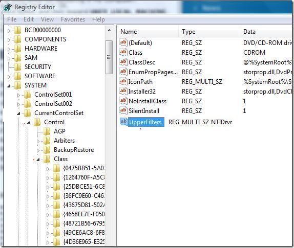 восстановление работы cd rom в windows 7