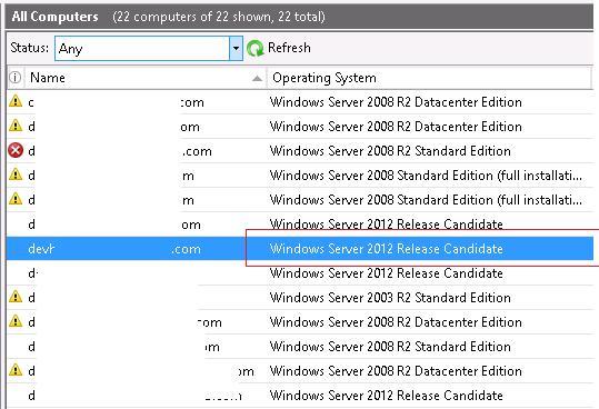 Обнаружение клиентов windows 2012 на wsus