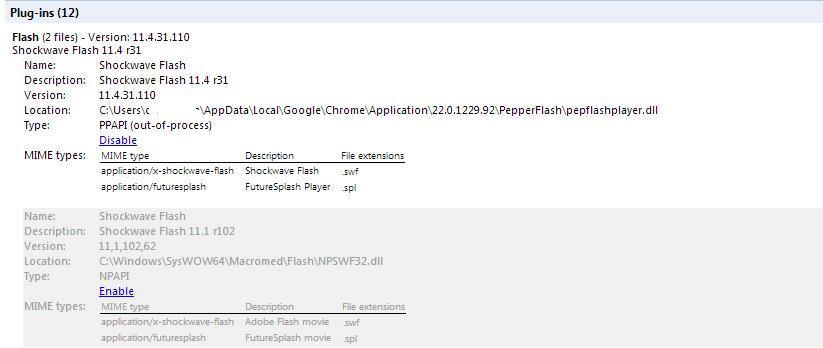 Отключить плагин flash в google chrome