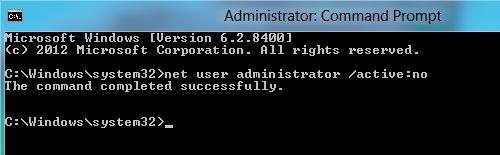 Отключить администратора в windows 8
