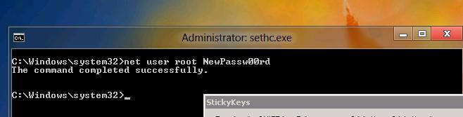 Сброс пароля администратора в  Windows 8