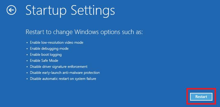 restart - перезагрузить windows 8 в безопасном режиме
